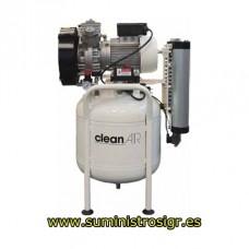 Compressores de correia ABAC série Dental Clean-Air sem óleo de lubrificação