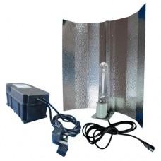 Kit luz para cultivo Hidropónico com Lâmpada + Refletor + Balastro digital 600W