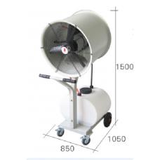 Ventilador  nebulizador para indústria, indústria mineira, agricultura, pecuária, construção civil