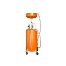 Escorredor de resíduos de óleo com 75 litros para resíduos de óleo e grande funil